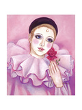 Mime with Rose Giclee Print by Judy Mastrangelo