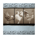 Rooster Ware Aqua III Giclee Print by Kory Fluckiger