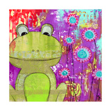 Whimsical Frog Giclee Print by Jennifer McCully