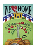We Heart Home Giclee Print by Margaret Wilson