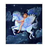 The Fly-Away-Horse Giclee Print by Judy Mastrangelo