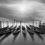 Gondolas En Atardecer Photographic Print by Moises Levy