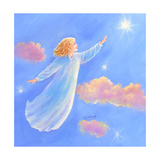 Girl Flying Toward a Star Impressão giclée por Judy Mastrangelo
