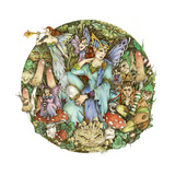 Titania and Puck Giclee-trykk av Linda Ravenscroft