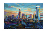 The Queen City Charlotte North Carolina Giclee Print by Jace D. McTier