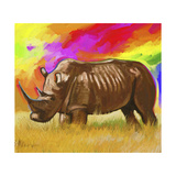 Rhino 2 Giclee Print by Howie Green