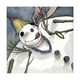 Snowman III Giclee Print by Kory Fluckiger