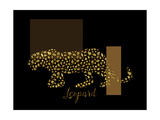 2 Golden Leopard Giclee Print by Tina Lavoie