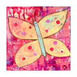 Yellow Butterfly Giclee Print by Jennifer McCully