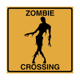 Zombie Crossing Giclee Print by Tina Lavoie