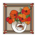 Poppy Bowl Reproduction procédé giclée par Howie Green