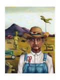 Eccentric Farmer 1 Giclee Print by Leah Saulnier
