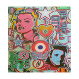 Pop Mix Giclee Print by  Abstract Graffiti