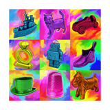 Pop Art Monopoly Pieces Giclee Print by Howie Green