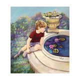 Water Lilies - Garden Gates Giclee Print by Judy Mastrangelo