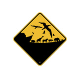 Ark Crossing Sign Giclee Print by  J Hovenstine Studios