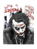 Joker Giclée-tryk af  Shacream Artist