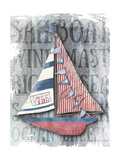 Sailboat Patriotic Nautical Giclee Print by  Christine Anderson Illustration