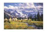 Nez Perce Summer Camp Giclee Print by Randy Van Beek