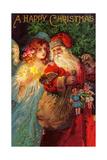Happy Christmas Lámina giclée por  Vintage Apple Collection