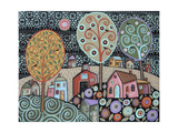 Two Cats Village 1 Giclee Print by Karla Gerard