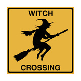 Witch Crossing Giclee Print by Tina Lavoie
