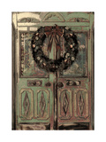 Christmas Door Card Giclee Print by  Mindy Sommers
