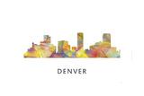 Denver Colorado Skyline Giclee Print by Marlene Watson