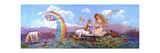 Princess and Unicorn Border Impressão giclée por Judy Mastrangelo