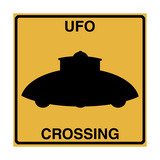 UFO Crossing Giclee Print by Tina Lavoie