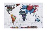 Map Graffiti Giclee Print by Mark Ashkenazi