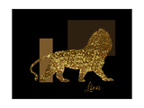3 Golden Lion Giclee Print by Tina Lavoie