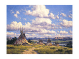 Blackfoot Country Giclee Print by Randy Van Beek