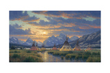 Blackfeet of the Rockies Giclee Print by Randy Van Beek