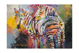 Zebras Giclee Print by Richard Wallich