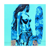 Tiki Surf Giclee Print by  Abstract Graffiti