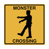 Monster Crossing Giclee Print by Tina Lavoie