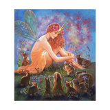Fairy and the Velveteen Rabbit Giclee Print by Judy Mastrangelo