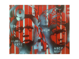 Boxer V Alphabet Giclee Print by  Abstract Graffiti