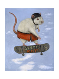 Skate Rat Pro Giclee Print by Leah Saulnier