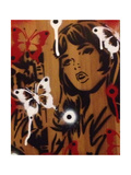 Bamboo Giclee Print by  Abstract Graffiti