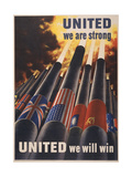 United Giclee Print by  Vintage Apple Collection