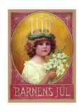 Barnens Jul Giclee Print by  Vintage Apple Collection