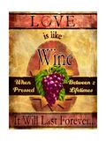 Love Is Like Wine Giclee Print by Joel Christopher Payne