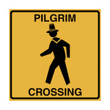 Pilgrim Crossing Giclee Print by Tina Lavoie