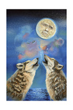 Cry Wolf Giclee Print by Sue Clyne