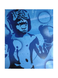 Blue Boxer Giclee Print by  Abstract Graffiti