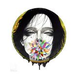 Black Blossom Giclee Print by  Minjae