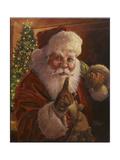 Santa Shhhh Reproduction procédé giclée par Jason Bullard