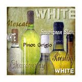 White Wine Bottles Giclee Print by Karen Williams